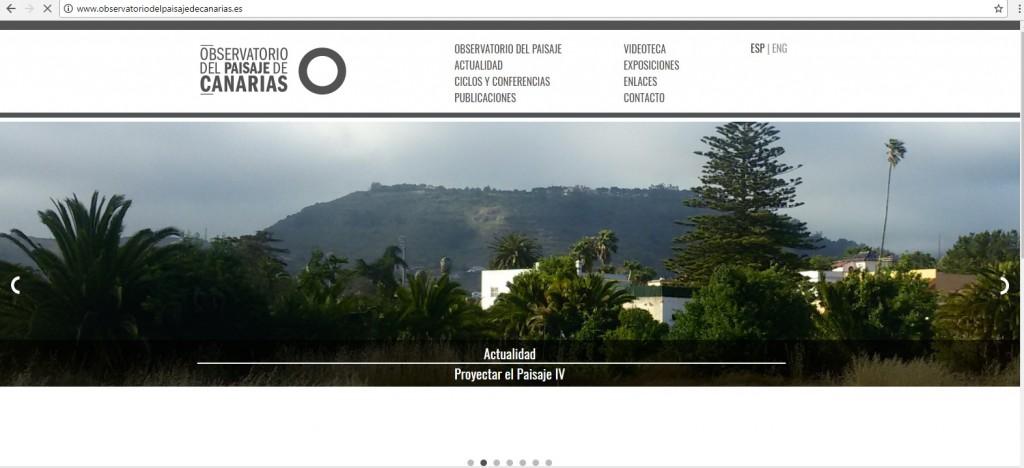 Web del Observatorio de Paisaje de Canarias