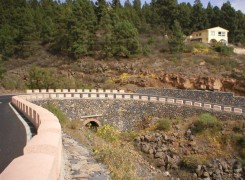 Las carreteras en el paisaje de Tenerife