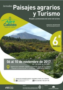 Cartel Jornadas Paisajes Agrarios y Turismo